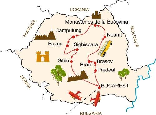 Rumanía - Mapa
